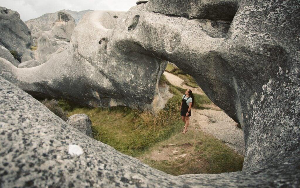 CASTLE HILL NEW ZEALAND LIMESTONE ROCK FORMATIONS KURA TAWHITI CONSERVATION AREA