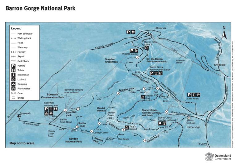 BARRON GORGE NATIONAL PARK MAP