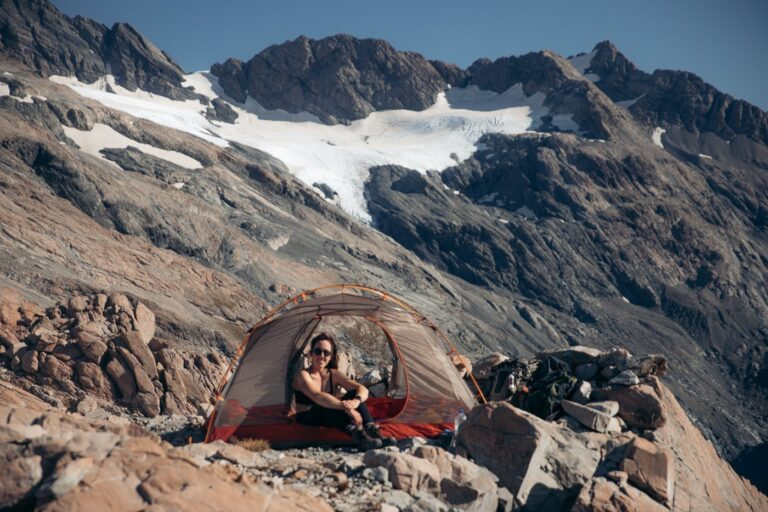 TENT CAMPING AT THE MUELLER HUT
