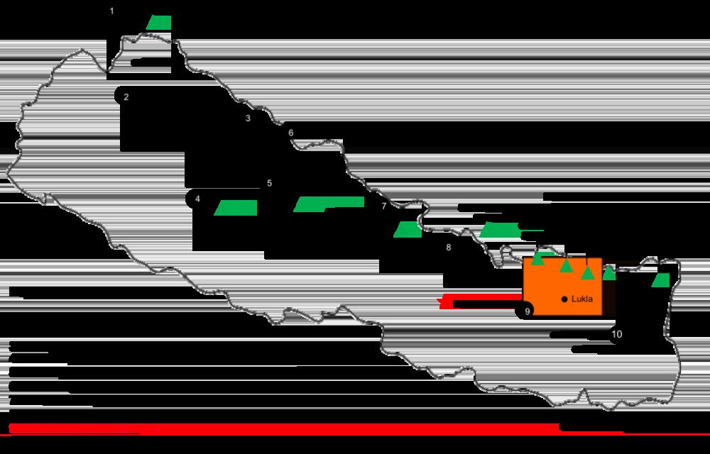 NEPAL MOUNTAIN REGION MAP