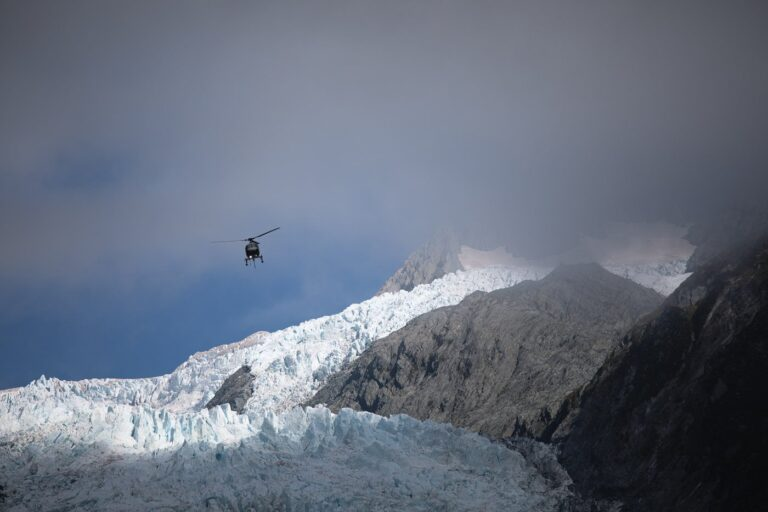 FRANZ JOSEF GLACIER FROM ROBERT'S POINT TRACK HELICOPTER