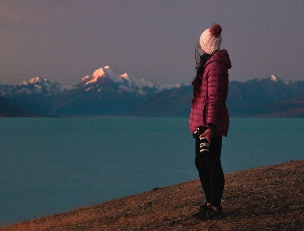 Lake Pukaki Lookout at sunset