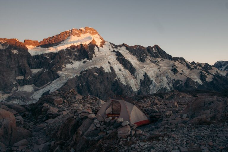 CAMPING NEAR THE MUELLER HUT FOR SUNSET