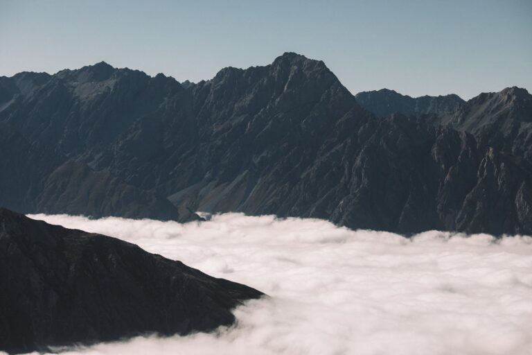 ABOVE THE CLOUDS ON THE MUELLER HUT HIKE