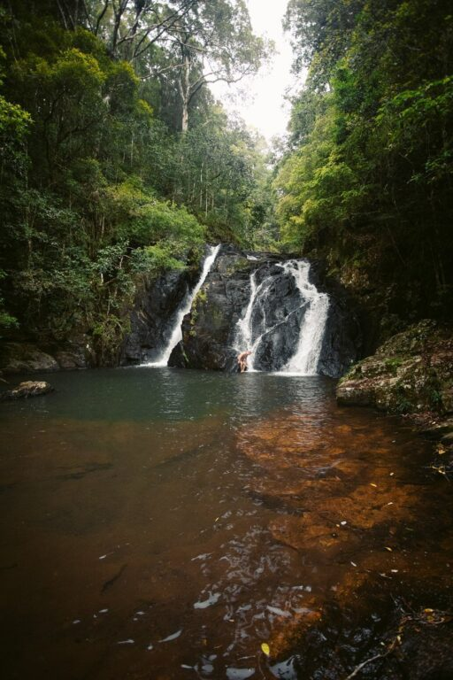 DINNER FALLS CAIRNS, SWIMMING HOLE AND WATERFALL