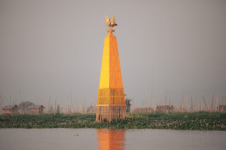 PAGODA AT INLE LAKE, MYANMAR