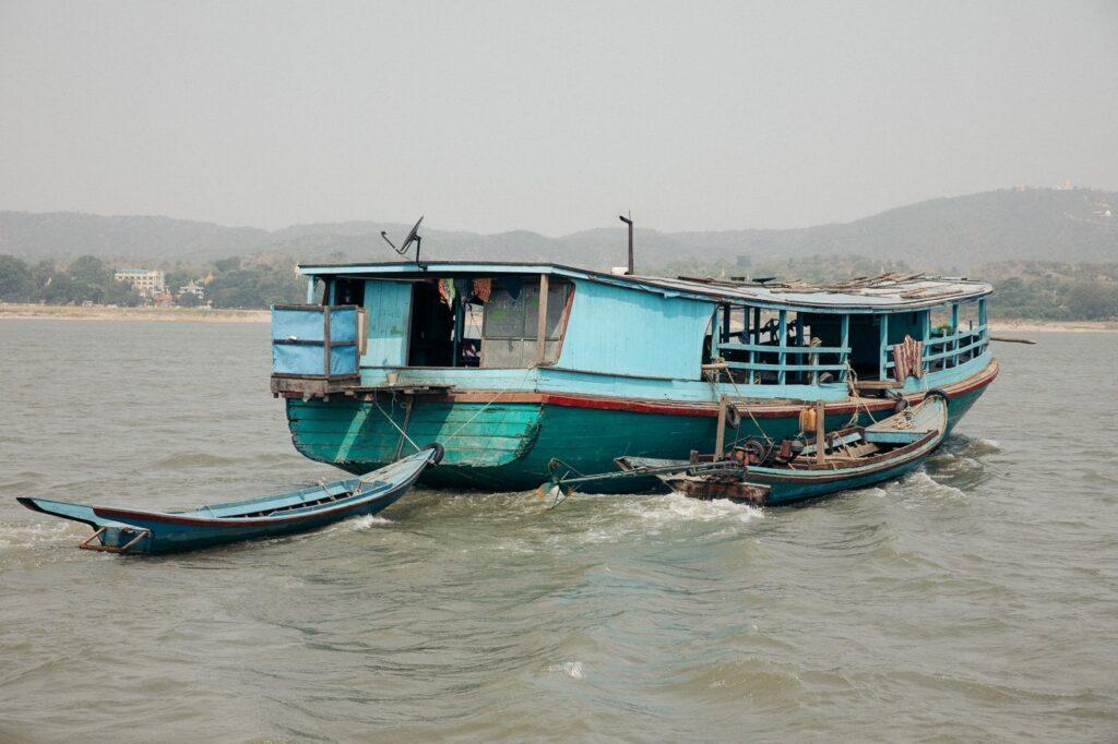 MINGUN RIVER BOAT FROM MANDALAY, MYANMAR