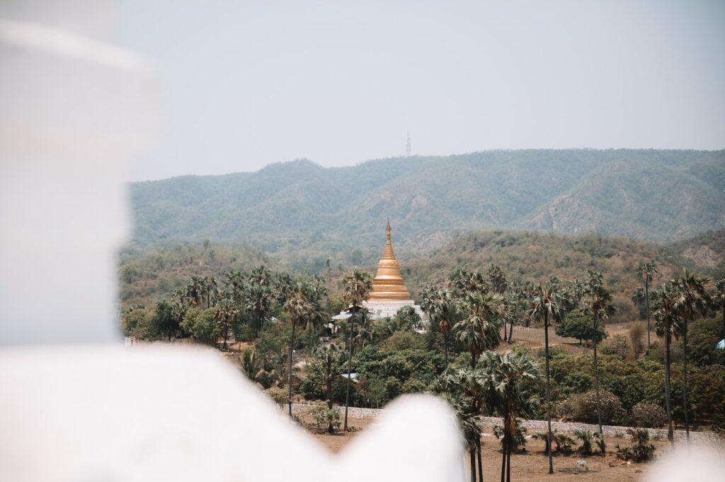 Sat Taw Yar Pagoda from the White Pagoda in Mingun