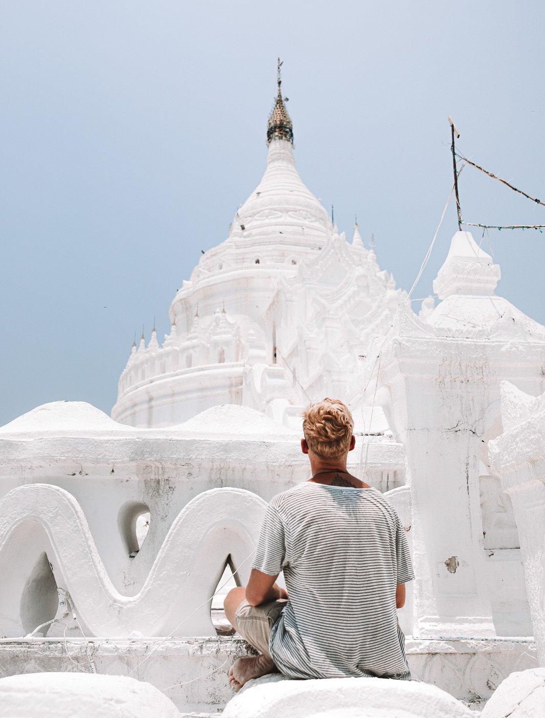 Hsinbyume Pagoda on a Mingun Day Trip from Mandalay
