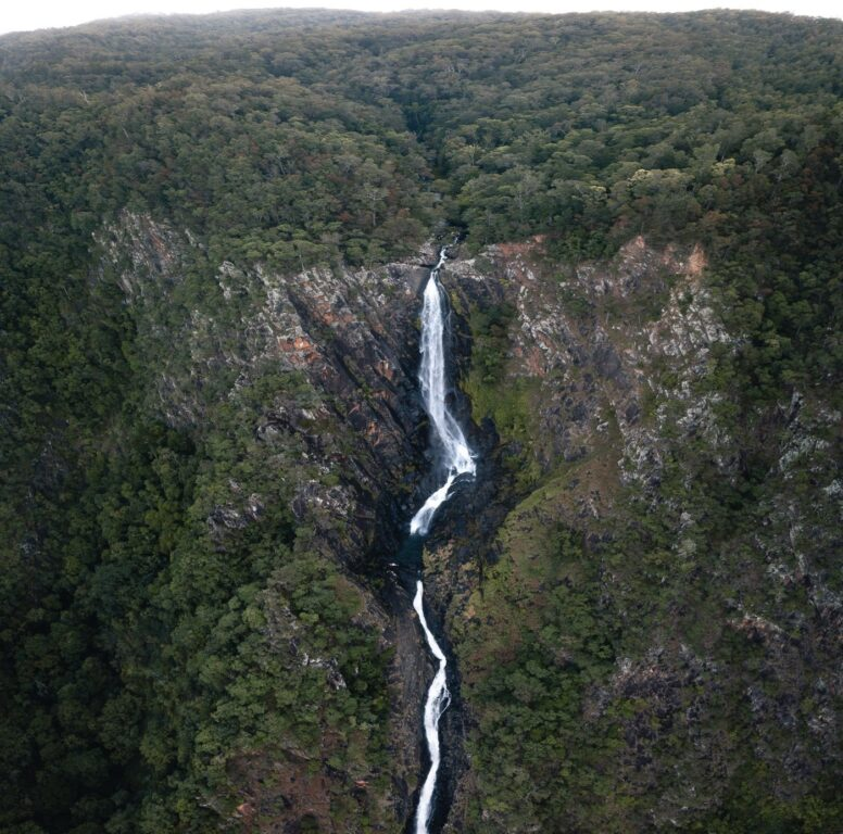 WINDIN FALLS DRONE, AERIAL PHOTOGRAPHY