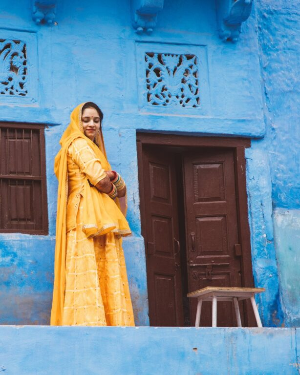 PORTRAIT OF A WOMAN FOR HER WEDDING IN JODHPUR, INDIA