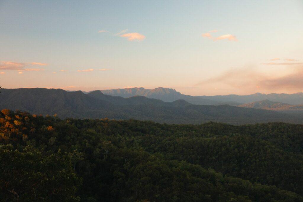 Girringun National Park sunset view of Hinchinbrook