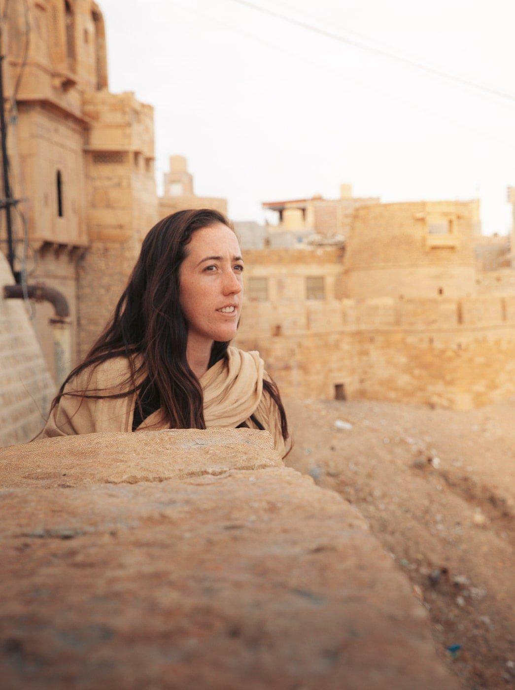 HAYLEA BROWN EXPLORING THE JAISALMER FORT IN RAJASTHAN