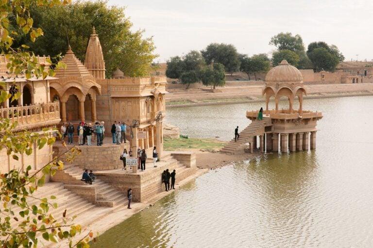 Gadisar Lake in Jaisalmer, India