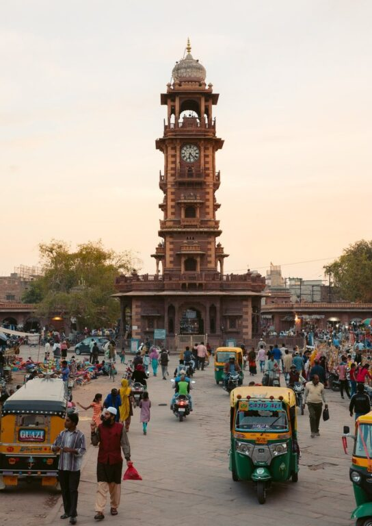 The Ghanta Ghar Clocktower Market in Jodhpur, India