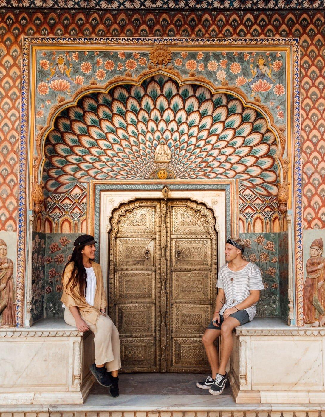 JAIPUR PALACE FAMOUS DOOR PHOTO