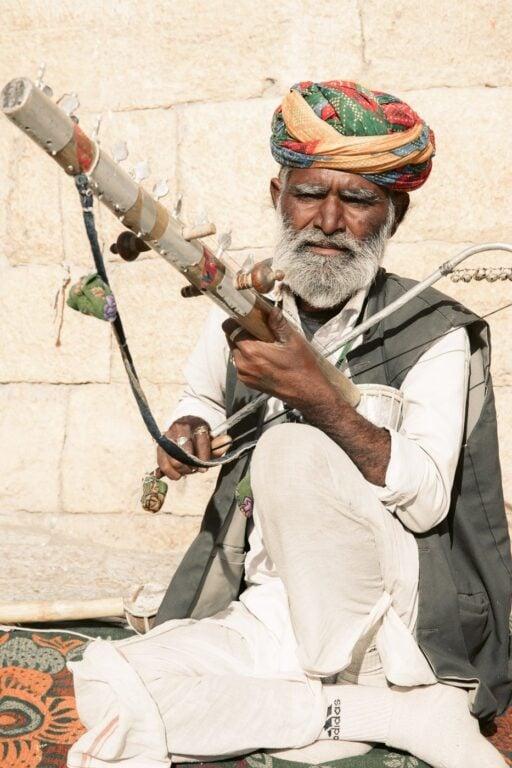 Jaisalmer Fort Rajasthani Man Street Performer