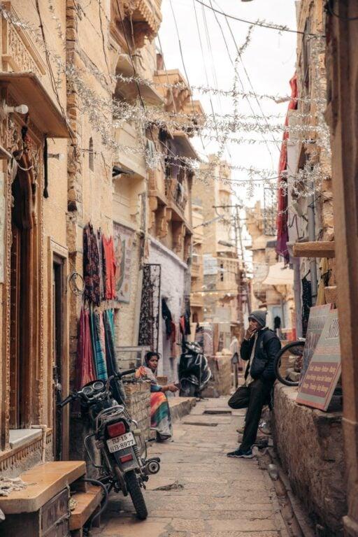 LOCALS IN THE JAISALMER FORT MARKET STREETS