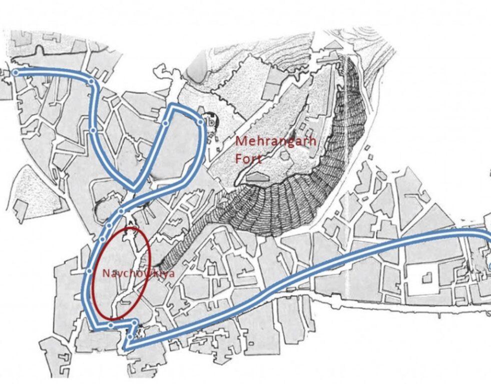 Navchowkia Jodhpur Old City Map, Historic Blue City Locations