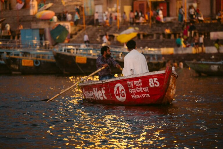 SUNRISE BOAT RIDE ON THE GANGES RIVER IN VARANASI