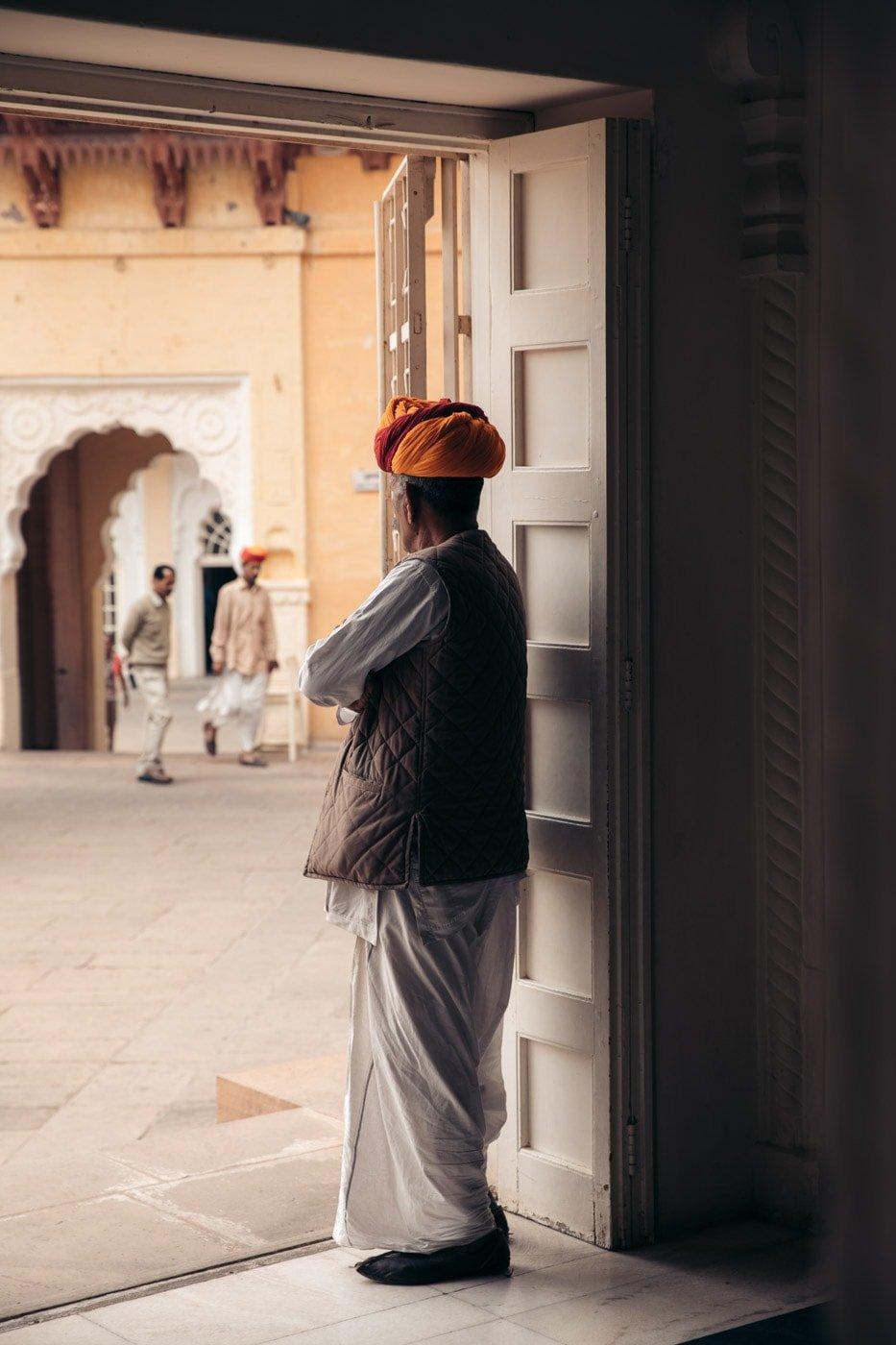 Guard in the Jodhpur Fort, India