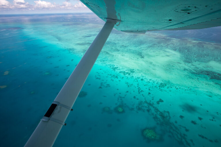 Great Barrier Reef from a plane