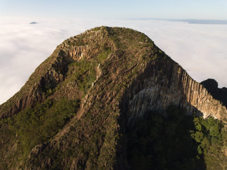 MOUNT BEERWAH SUMMIT GLASSHOUSE MOUNTAINS NATIONAL PARK QUEENSLAND