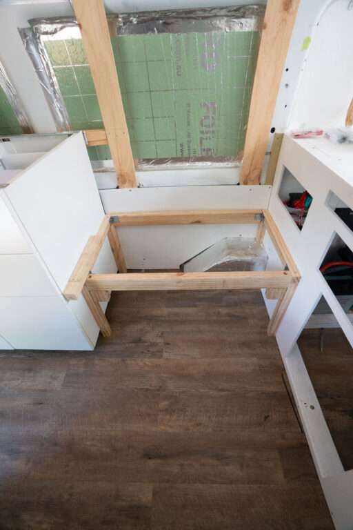 BUILDING BENCH SEATS IN A SELF CONVERTED CAMPERVAN