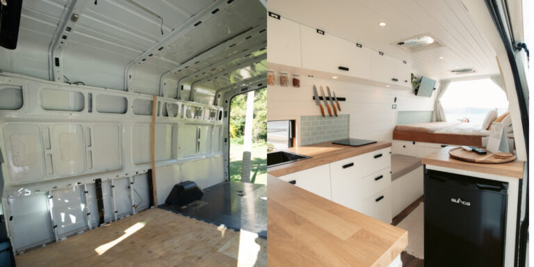 DIY VAN CONVERSION AUSTRALIA BEFORE AND AFTER
