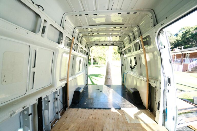 EMPTY VAN BEFORE CONVERSION