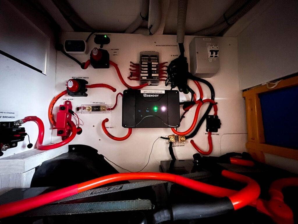 ELECTRICAL CABINET IN OUR SELF CONVERTED CAMPER VAN IN AUSTRALIA