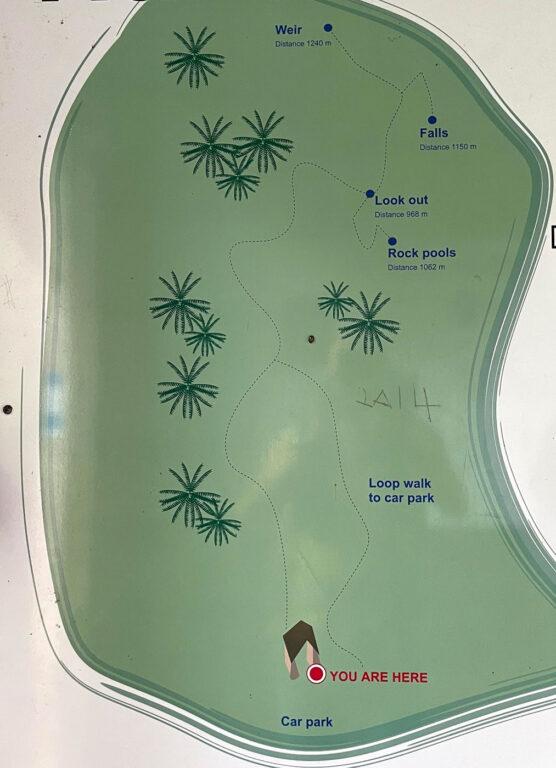 Halls Falls hiking map