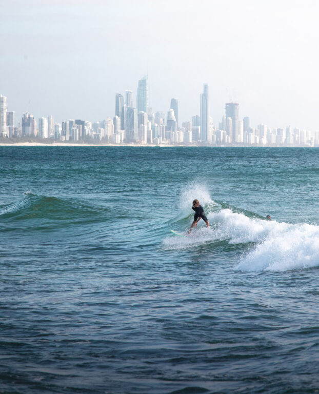 SURFER AT BURLEIGH HEADS