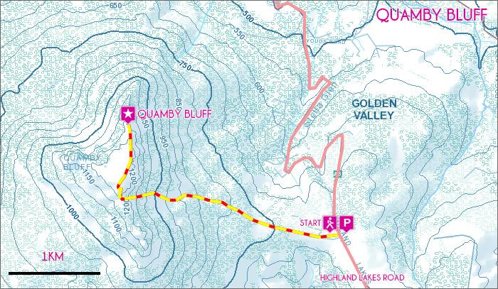 Quamby Bluff map