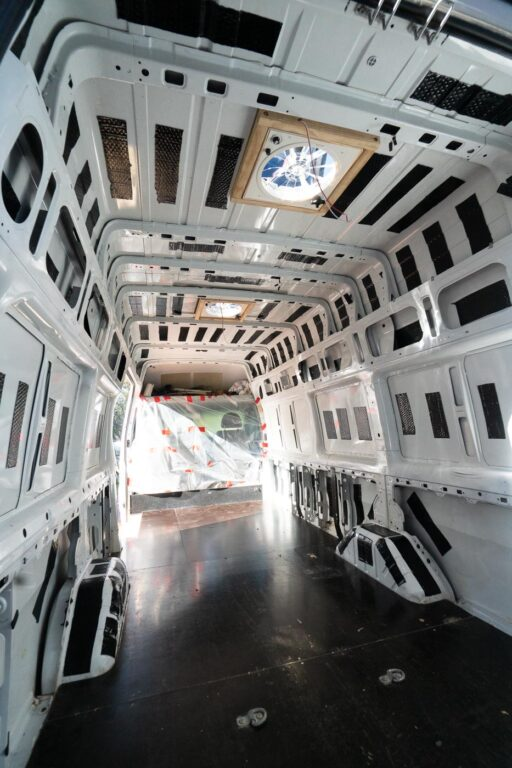 SOUND DEADENING WITH RATTLE TRAP IN A DIY CAMPERVAN CONVERSION