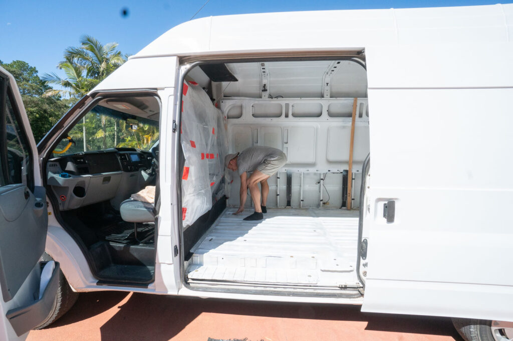 CLEANING OUT EVERYTHING BEFORE STARTING OUR DIY VAN CONVERSION IN AUSTRALIA