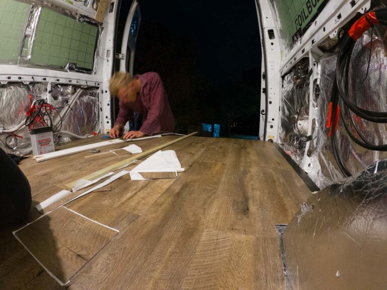 INSTALLING VINYL PLANK FLOORING IN A DIY VAN CONVERSION