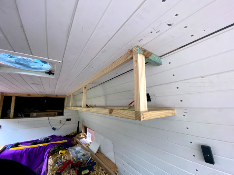 FRAMING UP OVERHEAD CABINETS IN A DIY VAN CONVERSION
