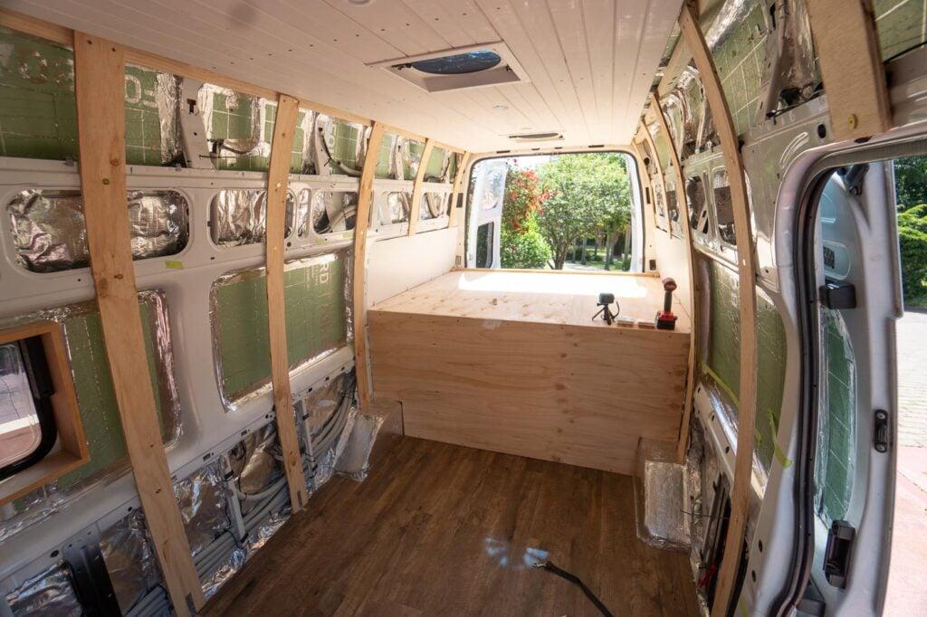 DIY VAN BUILD PLATFORM BED