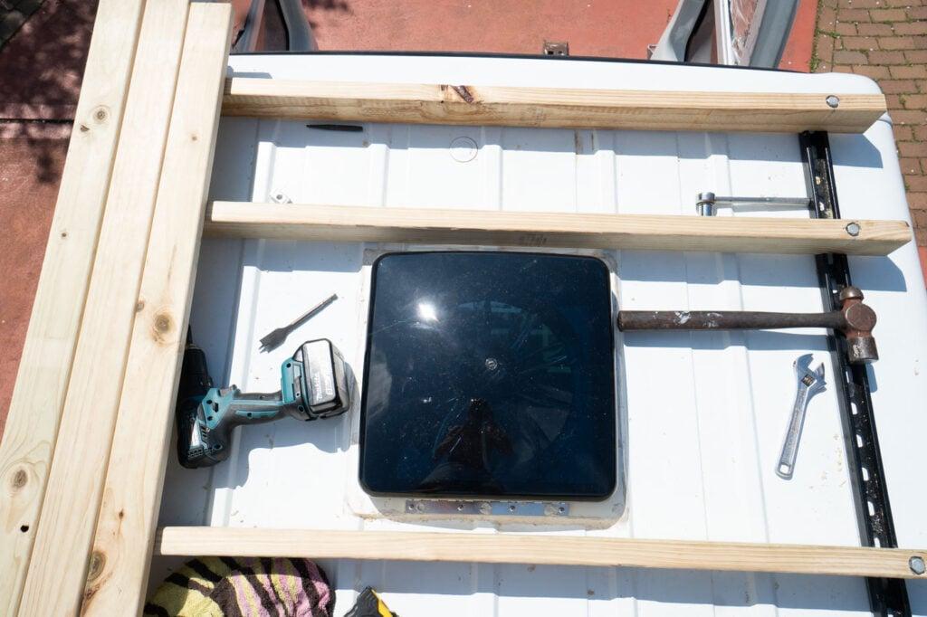BUILDING OUR VAN ROOF DECK