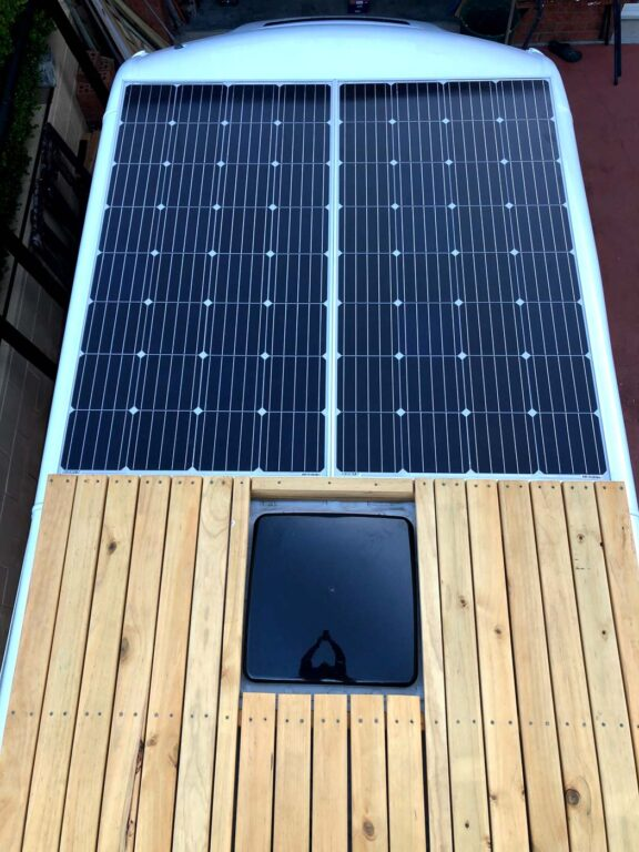 VAN ROOF DECK AND SOLAR PANELS