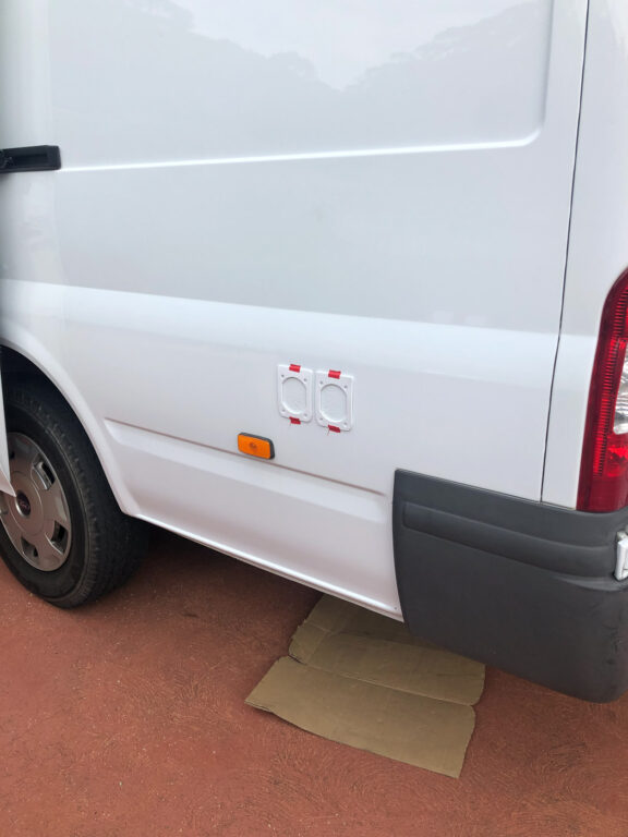 MOUNTING SHORE POWER INLET AND EXTERNAL GPO IN A DIY CAMPERVAN CONVERSION