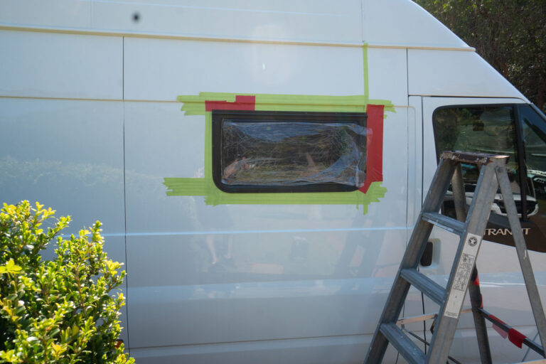 WINDOW INSTALL IN A DIY CAMPERVAN