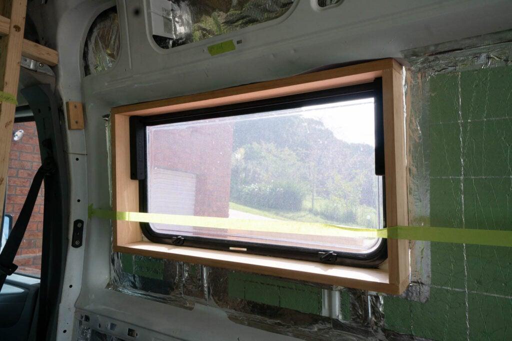 VAN WINDOW INSTALL