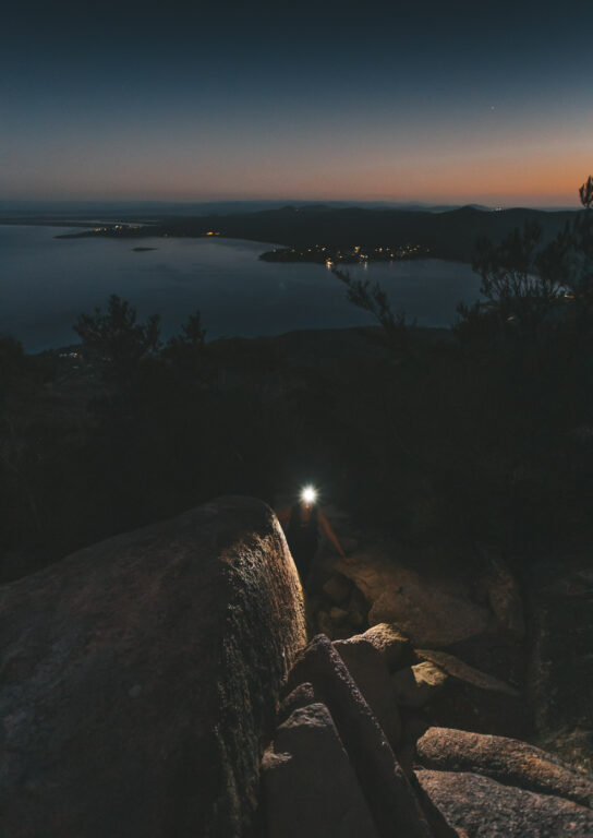 HIKING MOUNT AMOS IN THE DARK