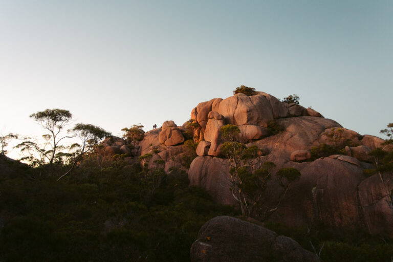 MOUNT AMOS SUMMIT FROM THE GRANITE ROCKS
