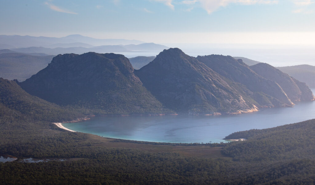 WINEGLASS BAY FROM MOUNT FREYCINET