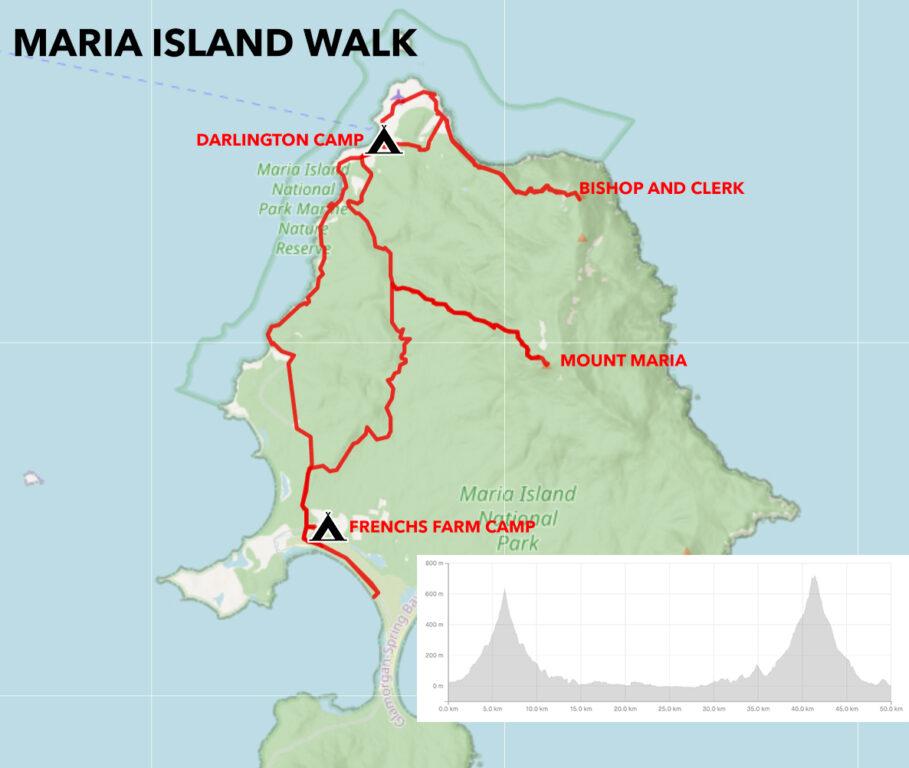 MARIA ISLAND WALK MAP