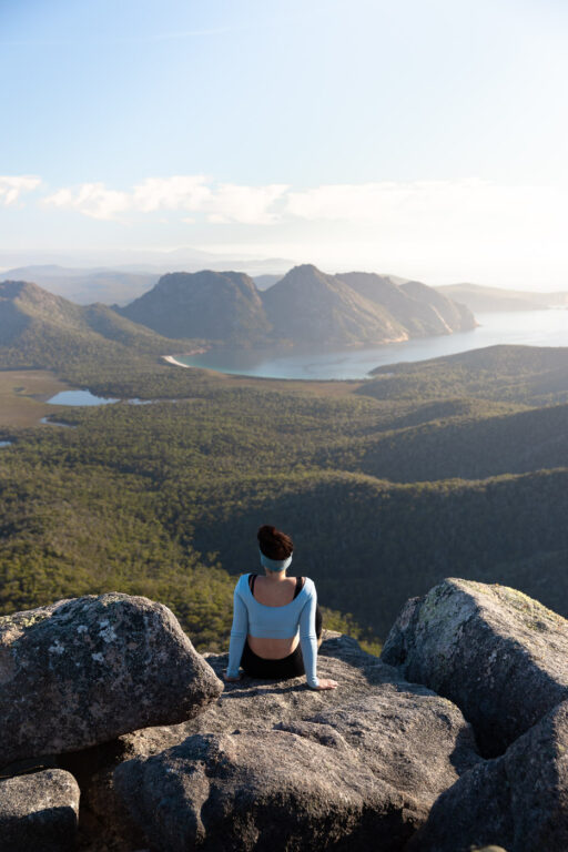 VIEW FROM MOUNT FREYCINET NATIONAL PARK, TASMANIA, HIKING ATTRACTIONS
