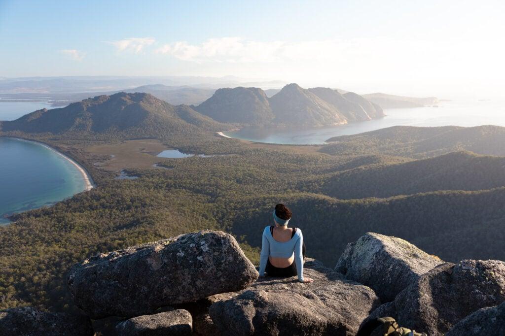 VIEW FROM MOUNT FREYCINET TASMANIA